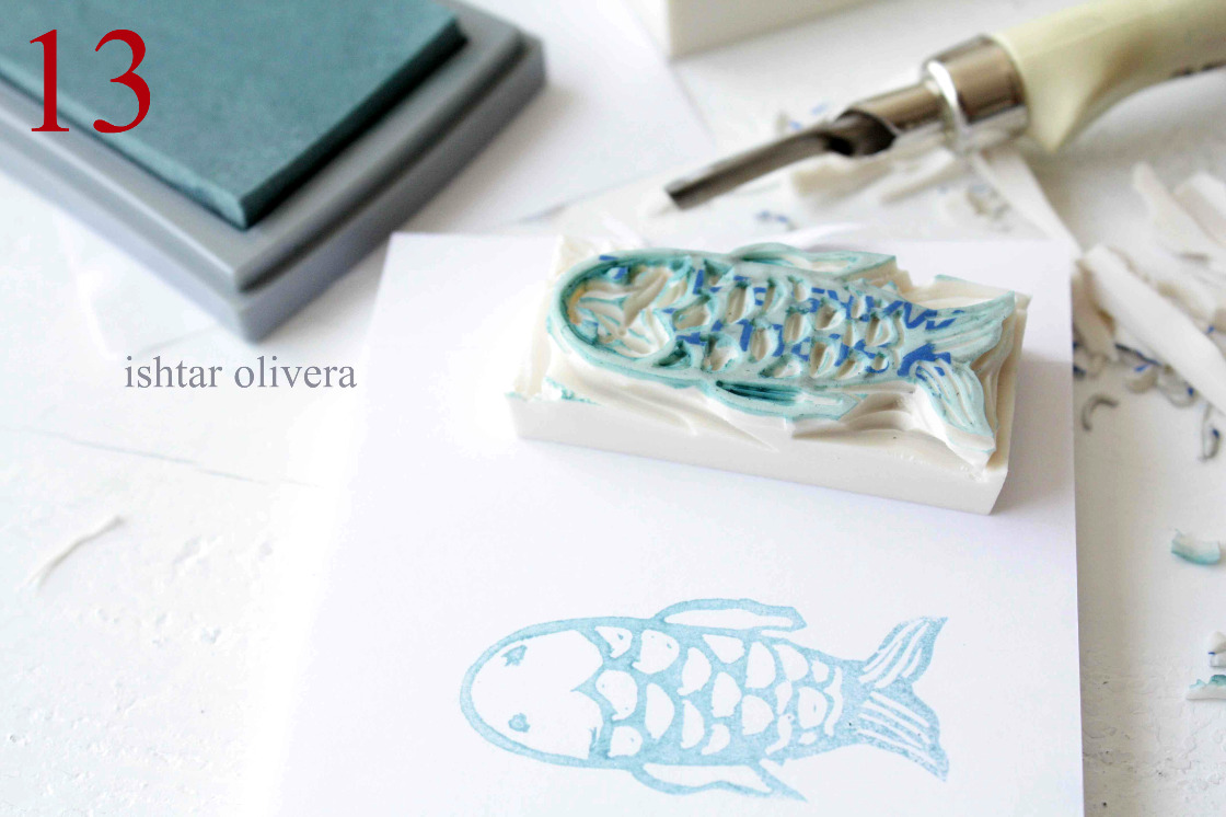 Stamp carving tutorial sellos de goma