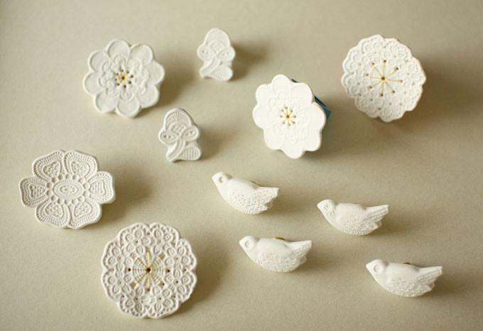 Kimiko suzuki porcelain jewelry from uguisu