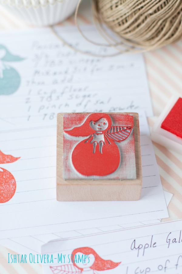 apple girl stamp 02r