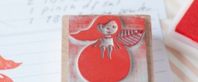 My stamps :Apple Girl – Mis sellos : Niña de la Manzana